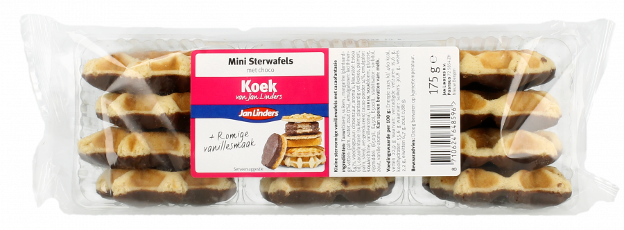 Jan Linders Mini sterwafels choco