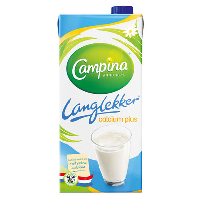 Campina Langlekker calcium plus halfvolle melk