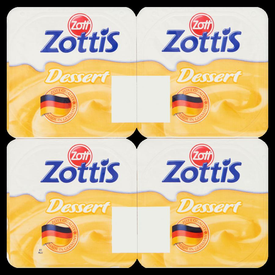 Zottis Vanillepudding 4-pack