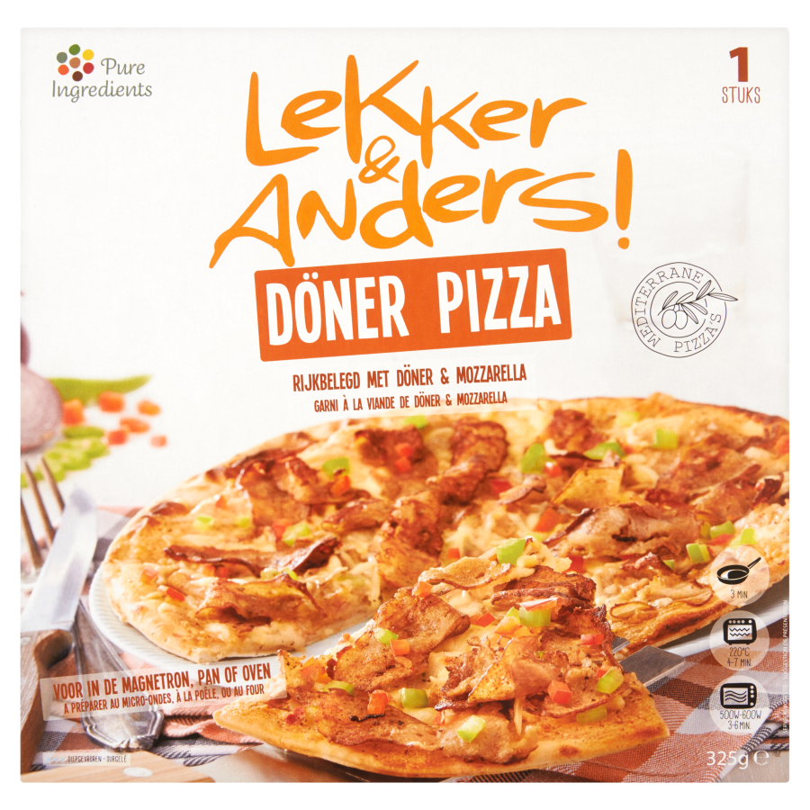 Lekker & anders ! Pizza döner