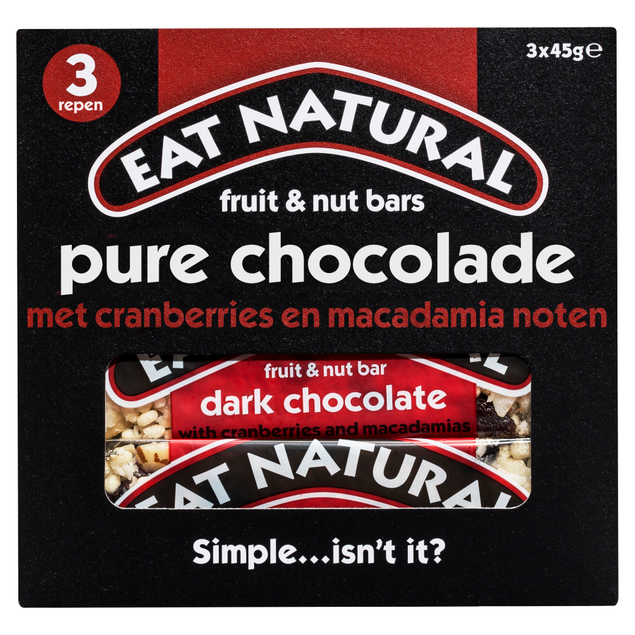 Eat Natural Pure choco cranberry macadamia