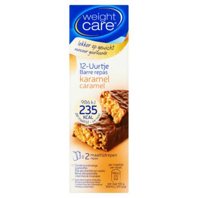 Weight Care maaltijdreep 12u karamel 2stuks