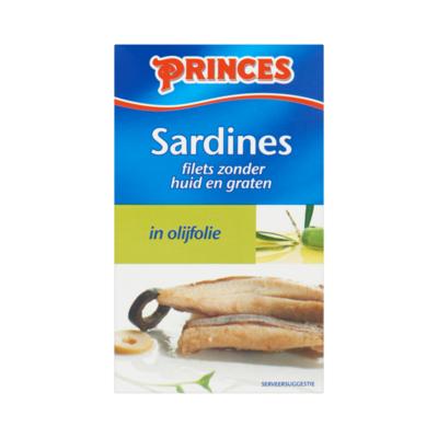 Princes Sardines Filets Zonder Huid en Graten in Olijfolie
