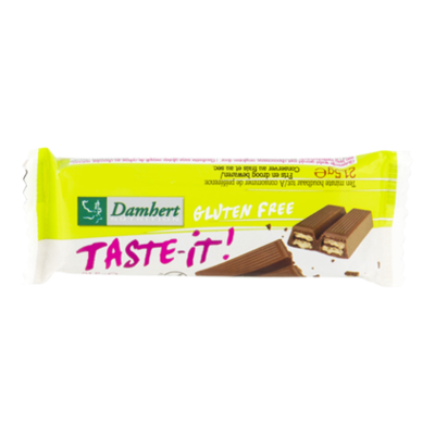 Damhert Glutenvrije taste-it! reep chocolade