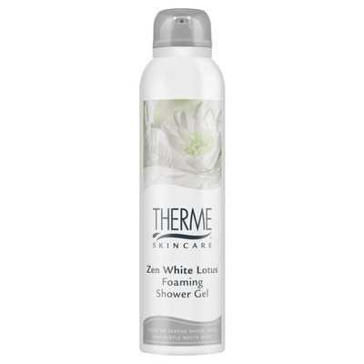 Therme Zen white lotus foaming shower gelmousse