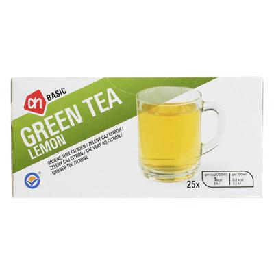 Budget Huismerk Groene thee citroen 1-kops