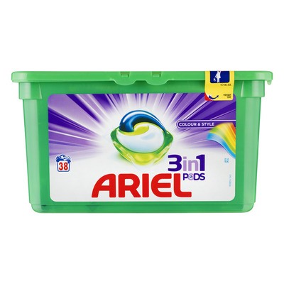 Ariel 3in1 Colour & Style wasmiddel capsules