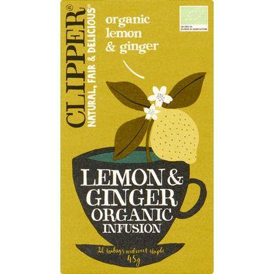 Clipper Organic lemon & ginger tea 1-kops