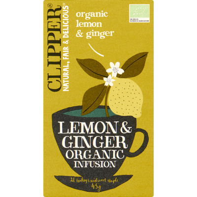Clipper Organic lemon & ginger tea 1-kops