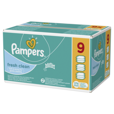 Pampers Wipes fresh clean 9 count