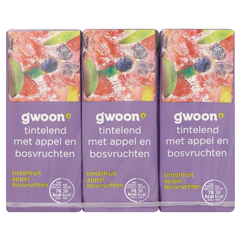 Huismerk Tintelfruit Appel Bosvruchten 6 x 200 ml