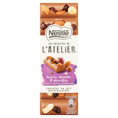 L'Atelier Melk rozijn hazelnoot amandel tablet