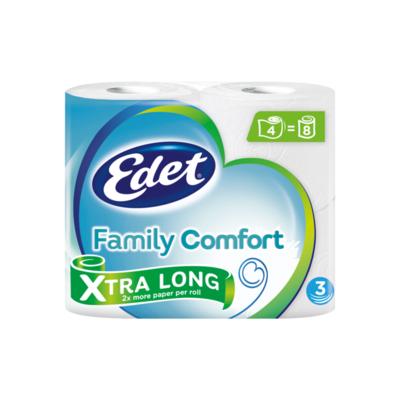 Edet Family Comfort Xtra Long 3-Laags Toiletpapier 4 Rollen