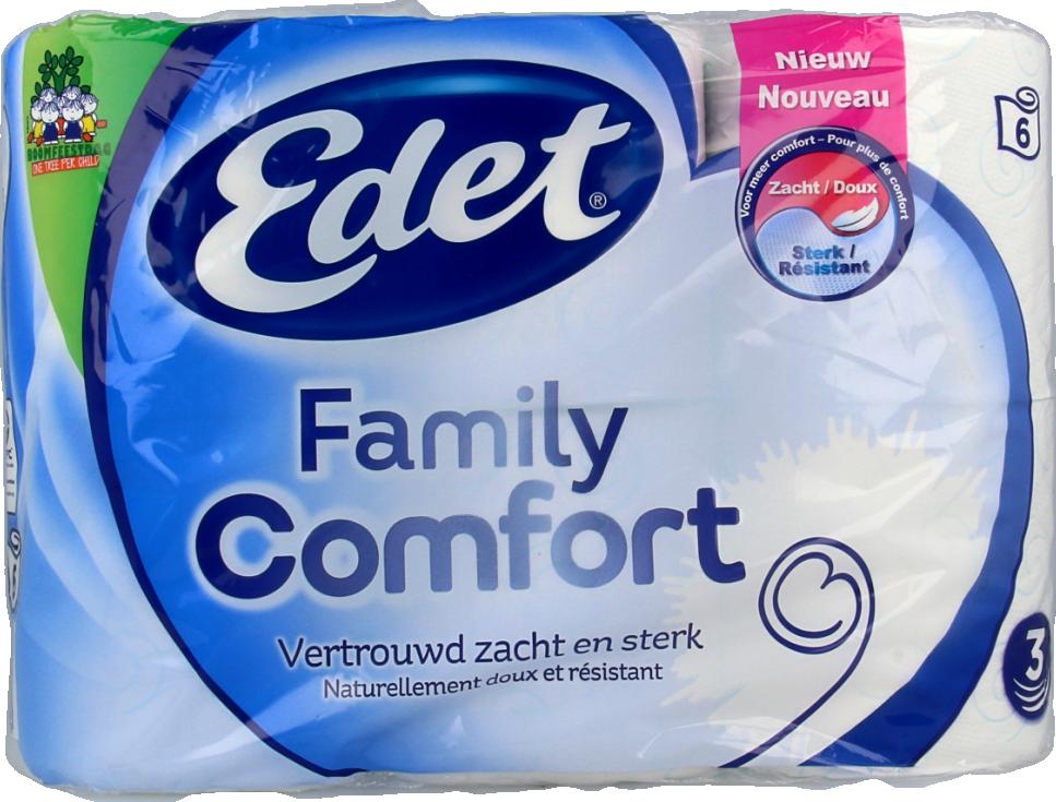 Edet Family Comfort 3-laags Toiletpapier 6 Rollen