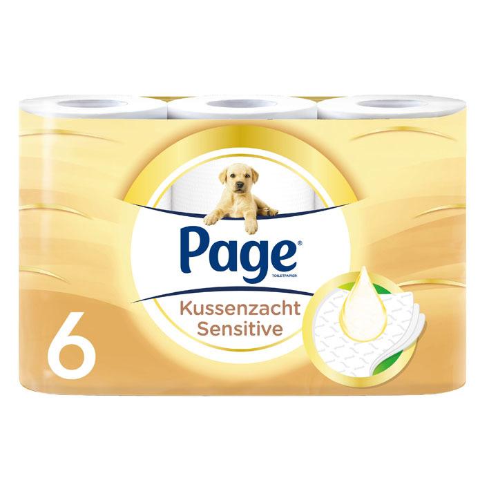 Page Kussenzacht sensitive toiletpapier