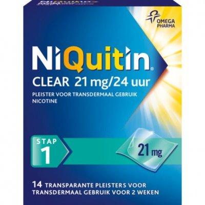 Niquitin Clear pleisters 21 mg