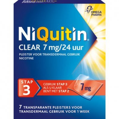 Niquitin Clear pleisters 7 mg