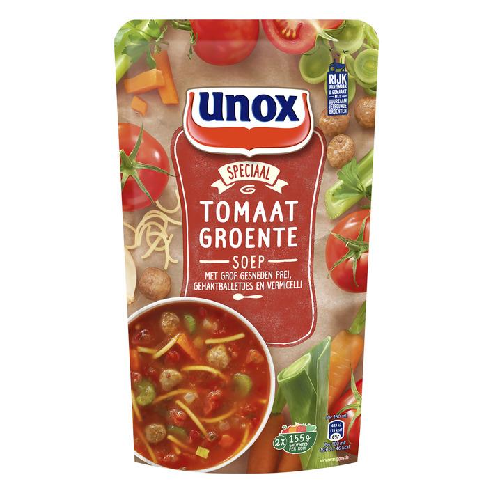 Unox Soep In zak tomaten groente