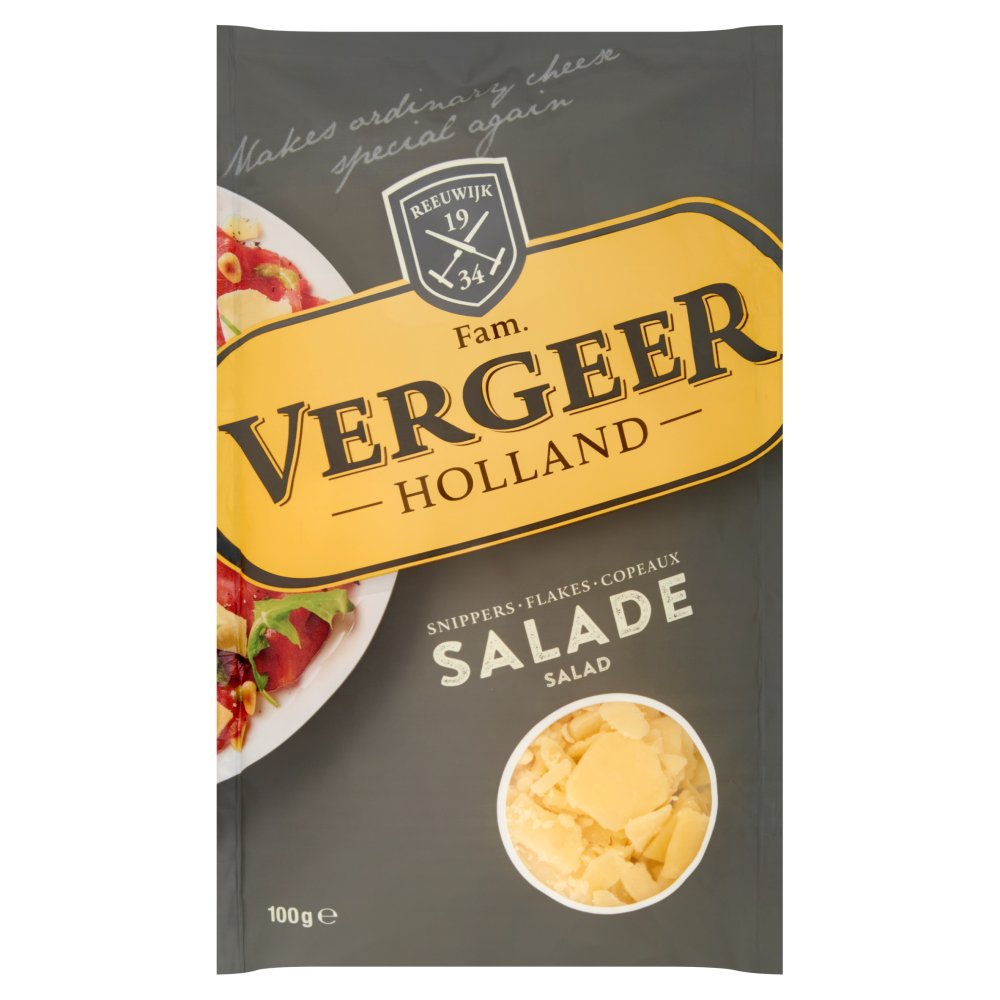 Vergeer Holland Kaas 48+ Snippers Salade 100 g