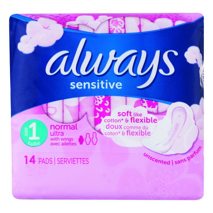Always Ultra sensitive normal maandverbanden