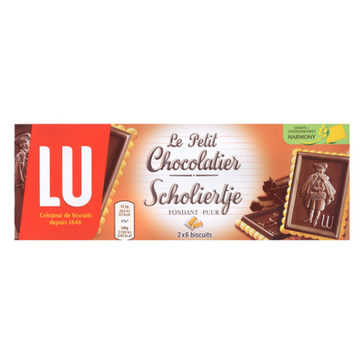 LU Scholiertje biscuits pure chocolade