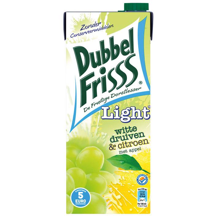 DubbelFrisss Witte druif-citroen light