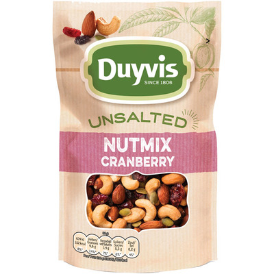 Duyvis Unsalted nutmix cranberry