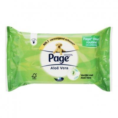 Page Vochtig toiletpapier aloë vera