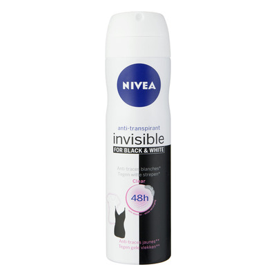 Nivea Invisible for black & white clear spray