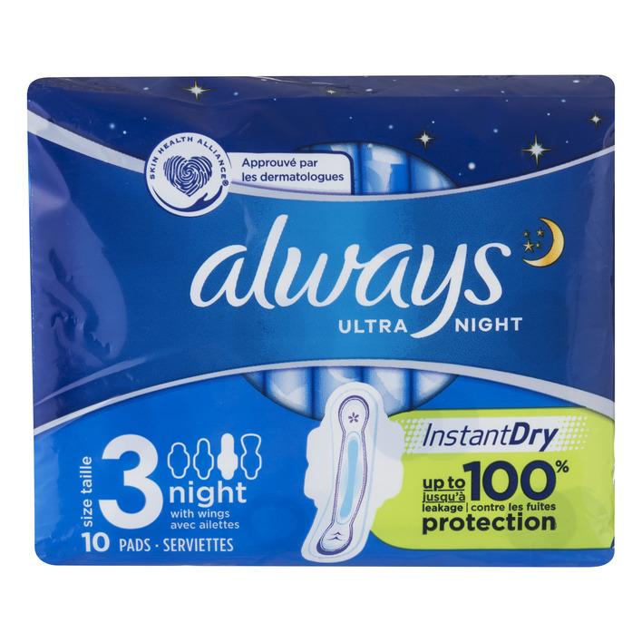 Always Ultra night (maat 3) maandverbanden