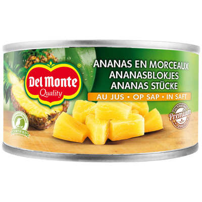 Del Monte Ananasblokjes op sap