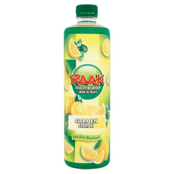 Raak vruchtensiroop citroen 750 ml