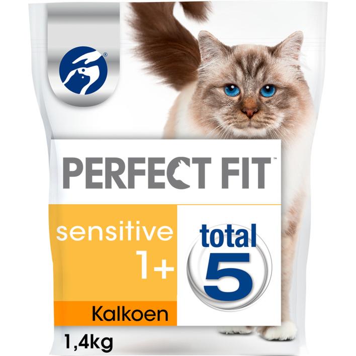 Perfect fit Kattenvoer droog kalkoen 1+ jaar