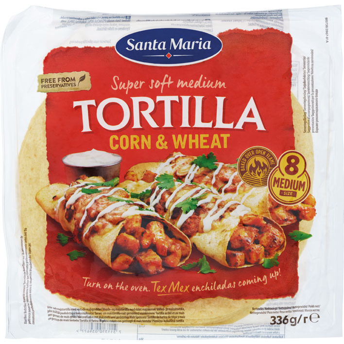 Santa Maria Corn & wheat tortilla