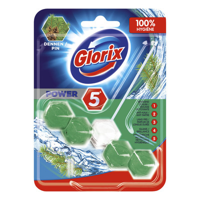 Glorix  Wc blok power 5 dennen