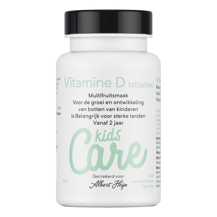Care Kids vitamine D tabletjes multifruit