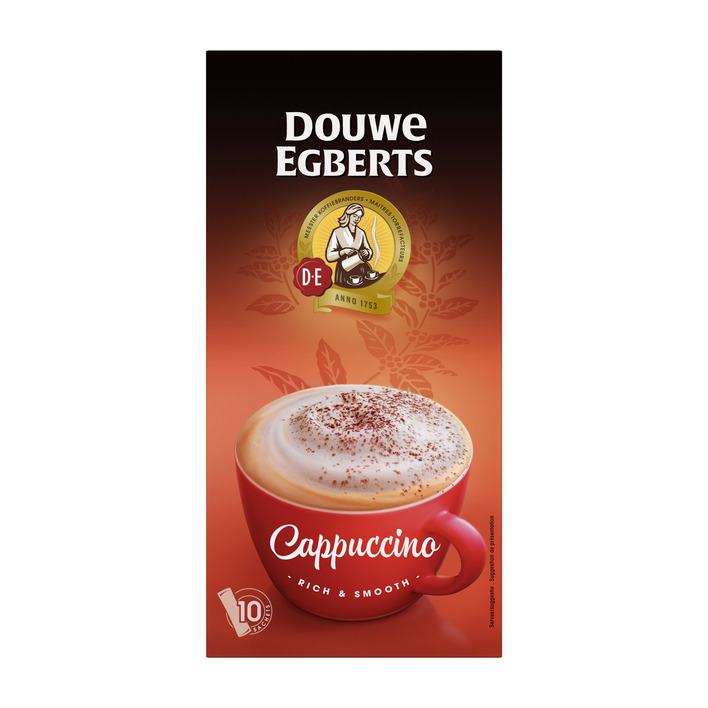 Douwe Egberts Verwenkoffie cappuccino oploskoffie
