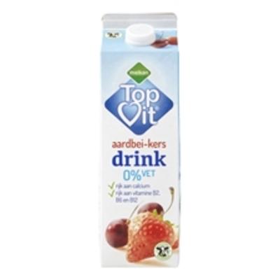 Huismerk Magere Drinkyoghurt Aardbei Kers 0% Vet