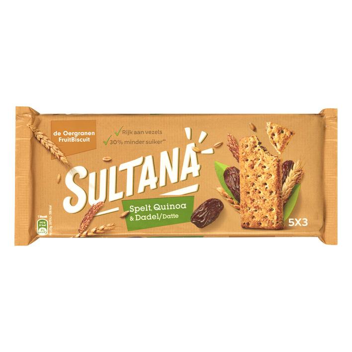 Sultana Fruitbiscuit spelt quinoa-dadel