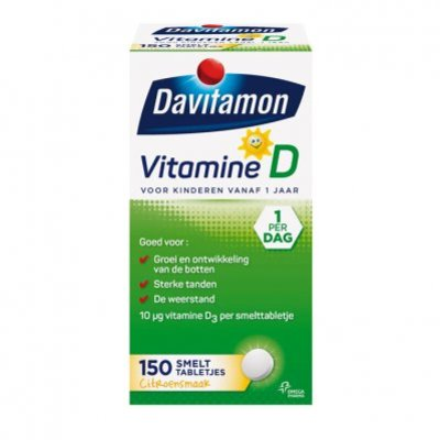Davitamon Vitamine D smelttabletjes vanaf 1 jaar