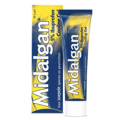 Midalgan Cooling gel 5% ibuprofen
