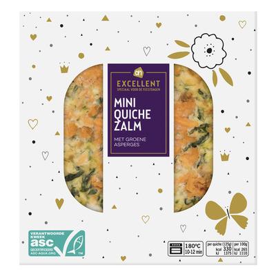 Huismerk Zalm quiche met groene asperges