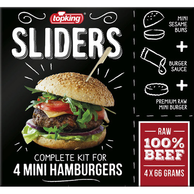 Topking Sliders mini hamburgers 100% beef