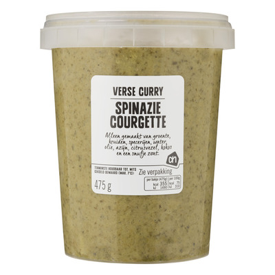 AH Verse groene curry courgette-spinazie