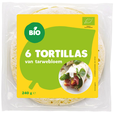 Bio Tortilla tarwebloem natuur