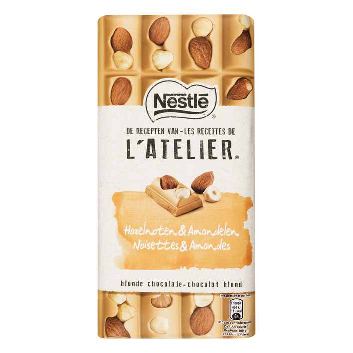 L'Atelier Blonde chocolade hazelnoot amandel