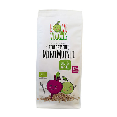 Love my veggies Mini muesli biet-appel 12mnd bio
