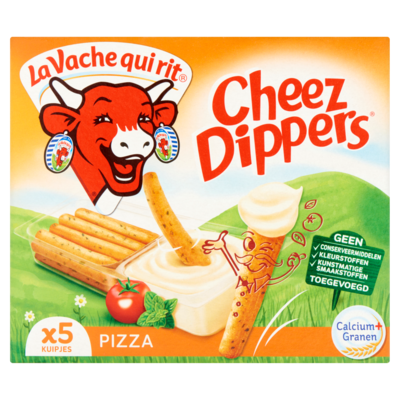 La Vache Cheez dippers pizza