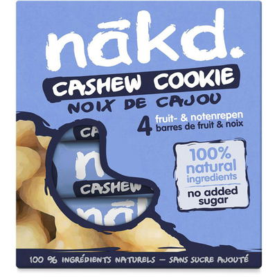 Nakd Cashew cookie notenreep met fruit
