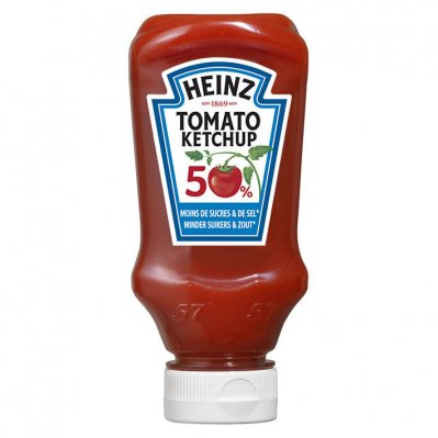 Heinz Tomaten ketchup 50% minder suiker & zout
